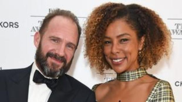 Ralph Fiennes and Sophie Okonedo at the 64th Evening Standard theatre awards