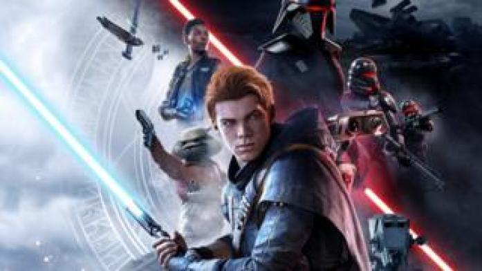 Star Wars Jedi: Fallen Order follows Padawan Cal Kestis (centre) who is on the run from the Galactic Empire.