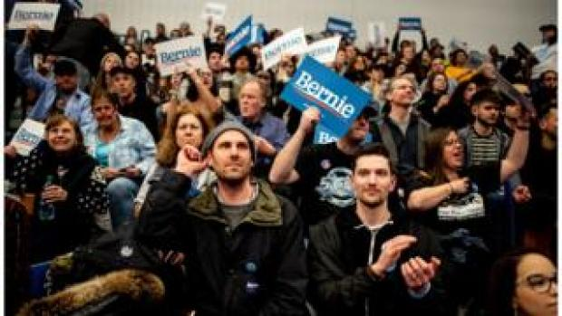 Bernie supporters in New Hampshire