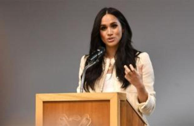 The Duchess of Sussex gives a speech at a school in Dagenham