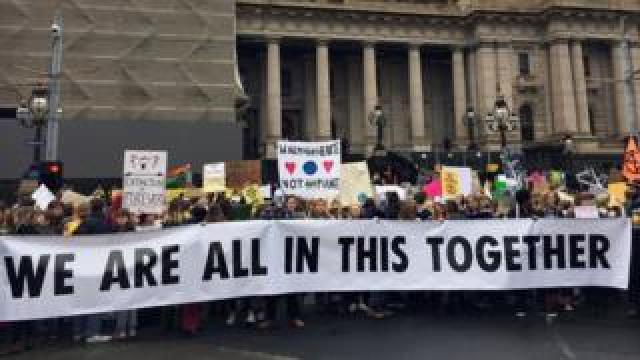 Climate protesters in Melbourne
