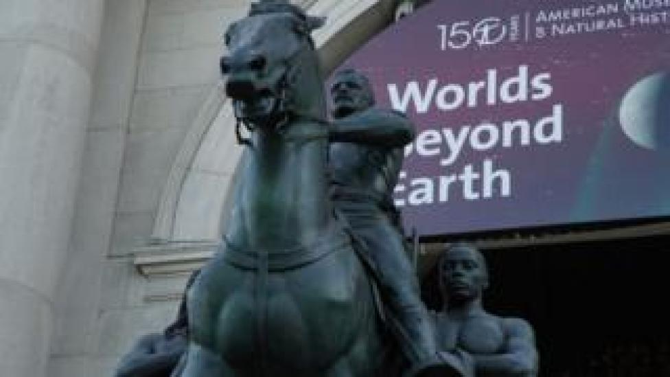 trump Theodore Roosevelt statue in New York