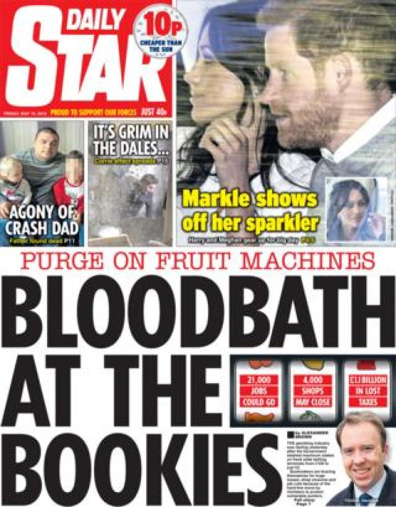 Daily Star Friday front page