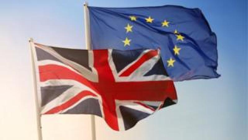 The Union Jack and the EU flag
