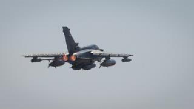 A RAF Tornado in flight