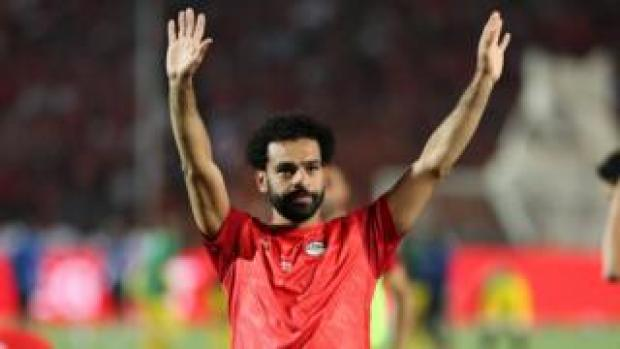 Mohamed Salah at the 2019 Africa Cup of Nations