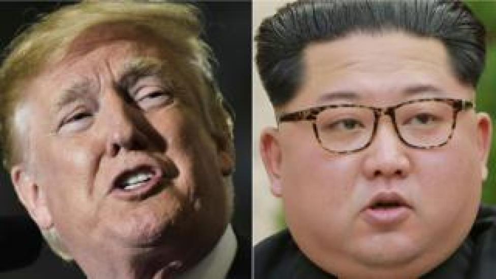Donald Trump iyo Kim Jong-un