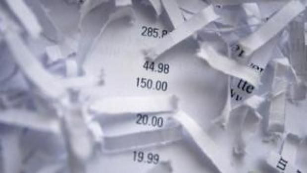 Shredded document