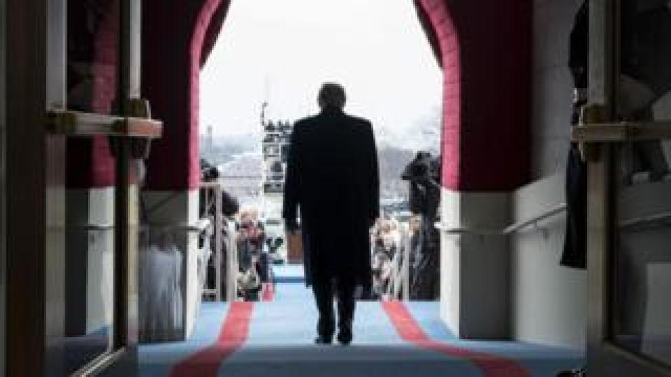 trump Trump at inauguration