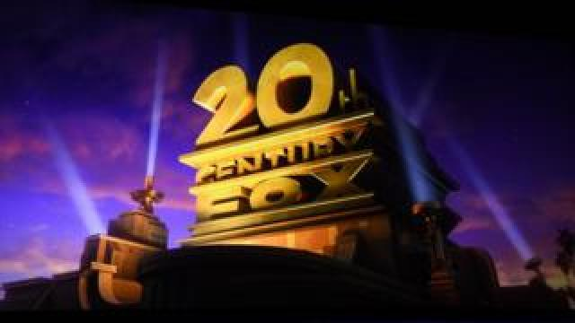 The 20th Century Fox with its iconic spotlights