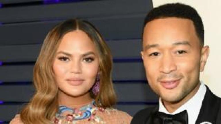 Chrissy Teigen and John Legend in 2019