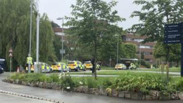The scene at Exeter University
