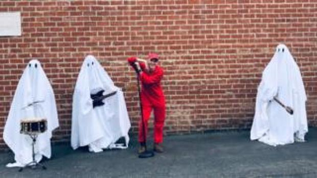Behind the scenes on the video for A Ghost