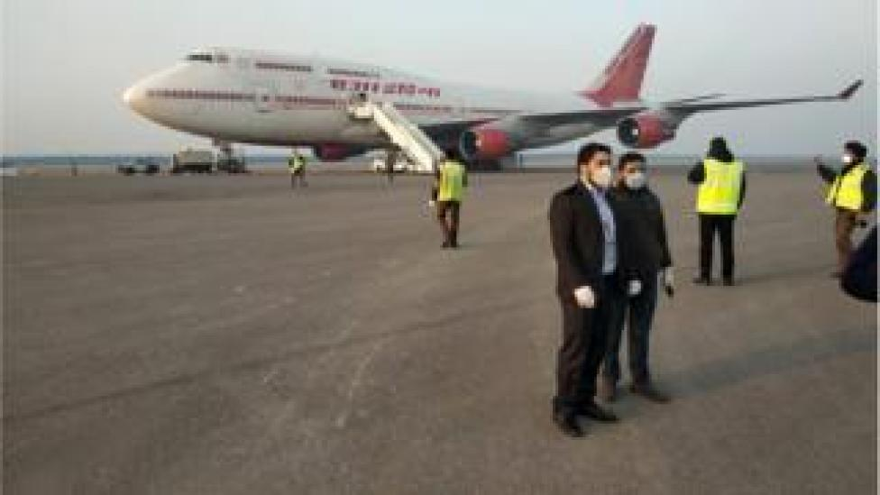 Air India plane and crew