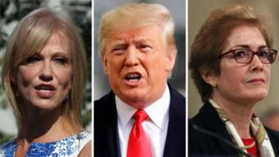 trump Composite image of Kellyanne Conway, Donald Trump, Marie Yovanovitch