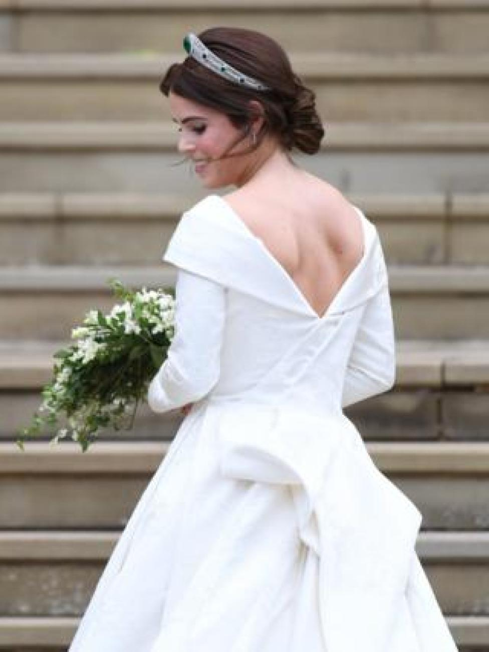 NEWS Princess Eugenie of York arrives for her royal wedding ceremony