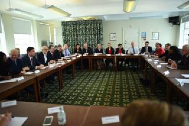 Labour leader Jeremy Corbyn holds a shadow cabinet meeting