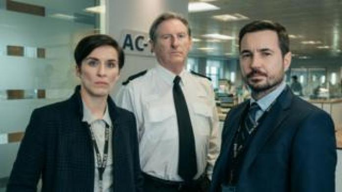 Vicky McClure, Adrian Dunbar and Martin Compston in Line of Duty
