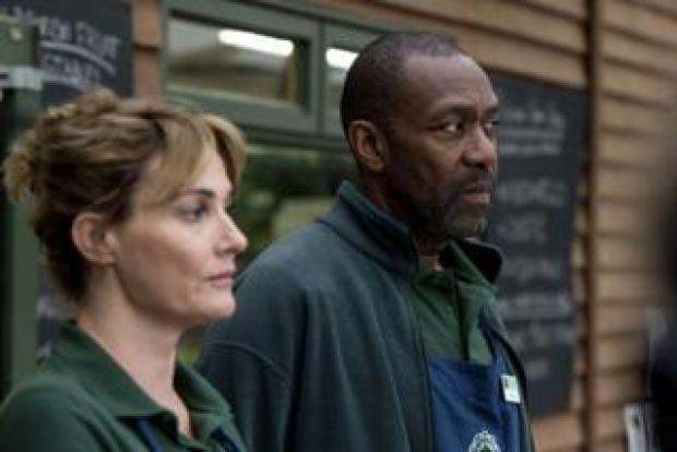 Sarah Parish as Cath and Lenny Henry as Ed