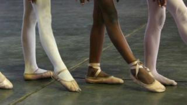 Ballet dancers in a studio