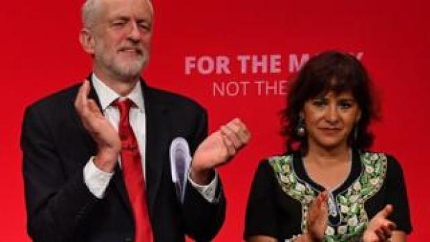 Jeremy Corbyn and Laura Alvarez