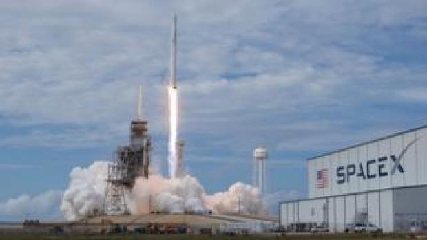 SpaceX Falcon 9 rocket.