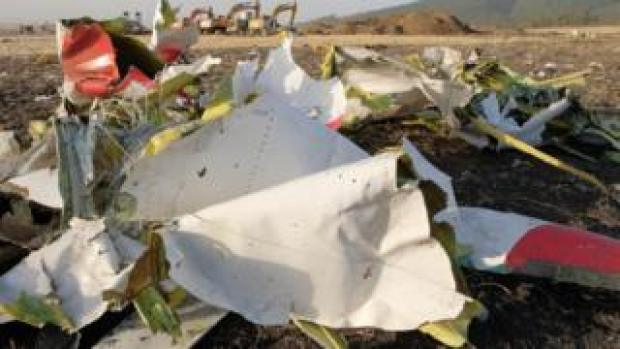 Debris from Ethiopian Airlines flight 302