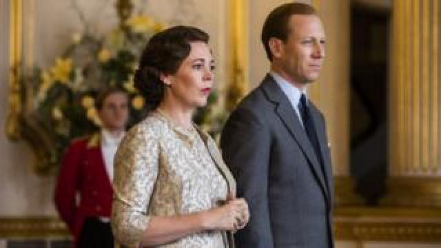 Olivia Colman and Tobias Menzies as the Queen and the Duke of Edinburgh in The Crown season three