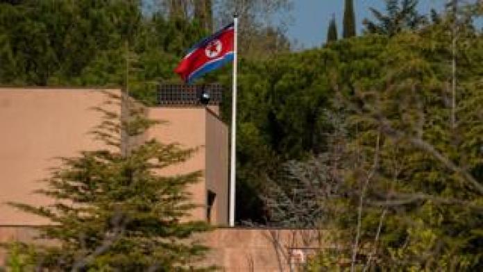 North Korean embassy in Madrid