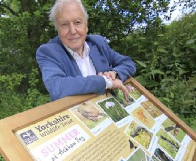 Sir David Attenborough at Askham Bog