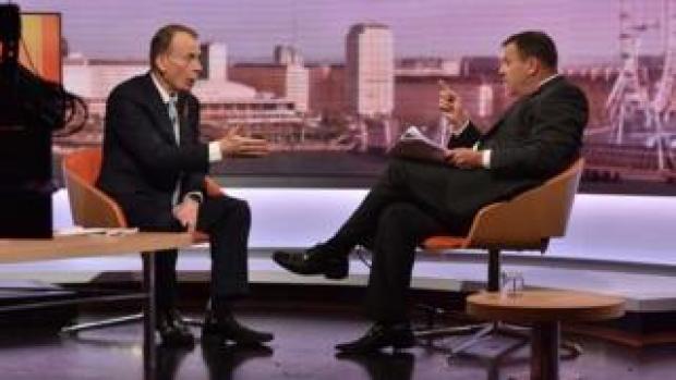 Andrew Marr interviewing Arron Banks