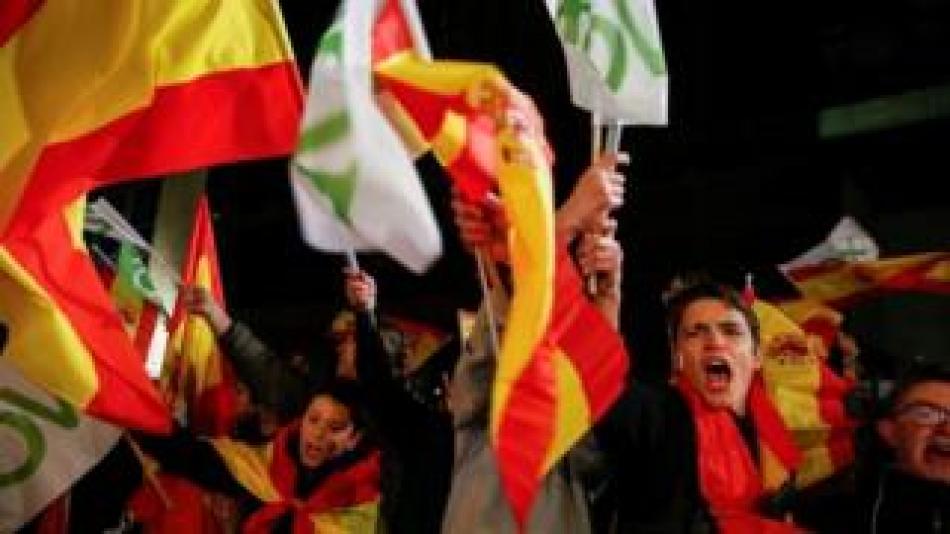 Eccd.net News  Vox supporters celebrate in Madrid
