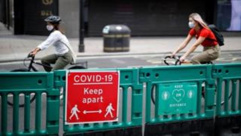 Cyclists on Oxford Street in London