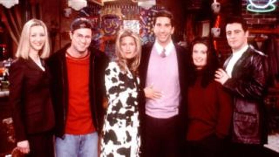 The cast of US sitcom Friends