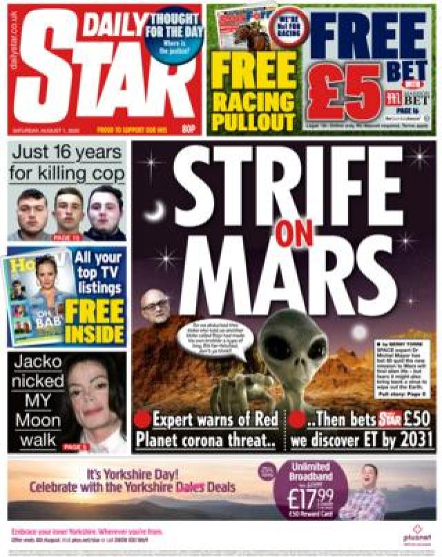 The Daily Star front page 1 August
