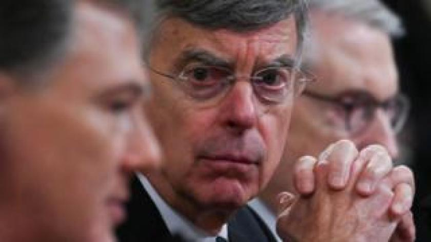 impeach Top US diplomat in Ukraine Bill Taylor testifies during the House Intelligence Committee on Capitol Hill in Washington on November 13, 2019