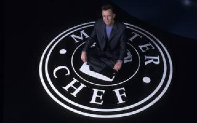 Gary Rhodes on the MasterChef logo in 2001