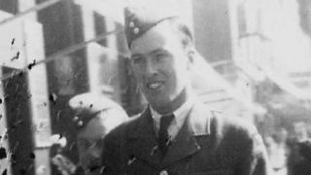 Roald Dahl in his RAF uniform