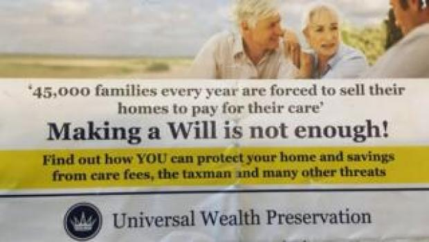 Universal Wealth Management leaflet
