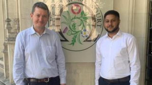 Former Uber drivers James Farrar and Yaseen Aslam