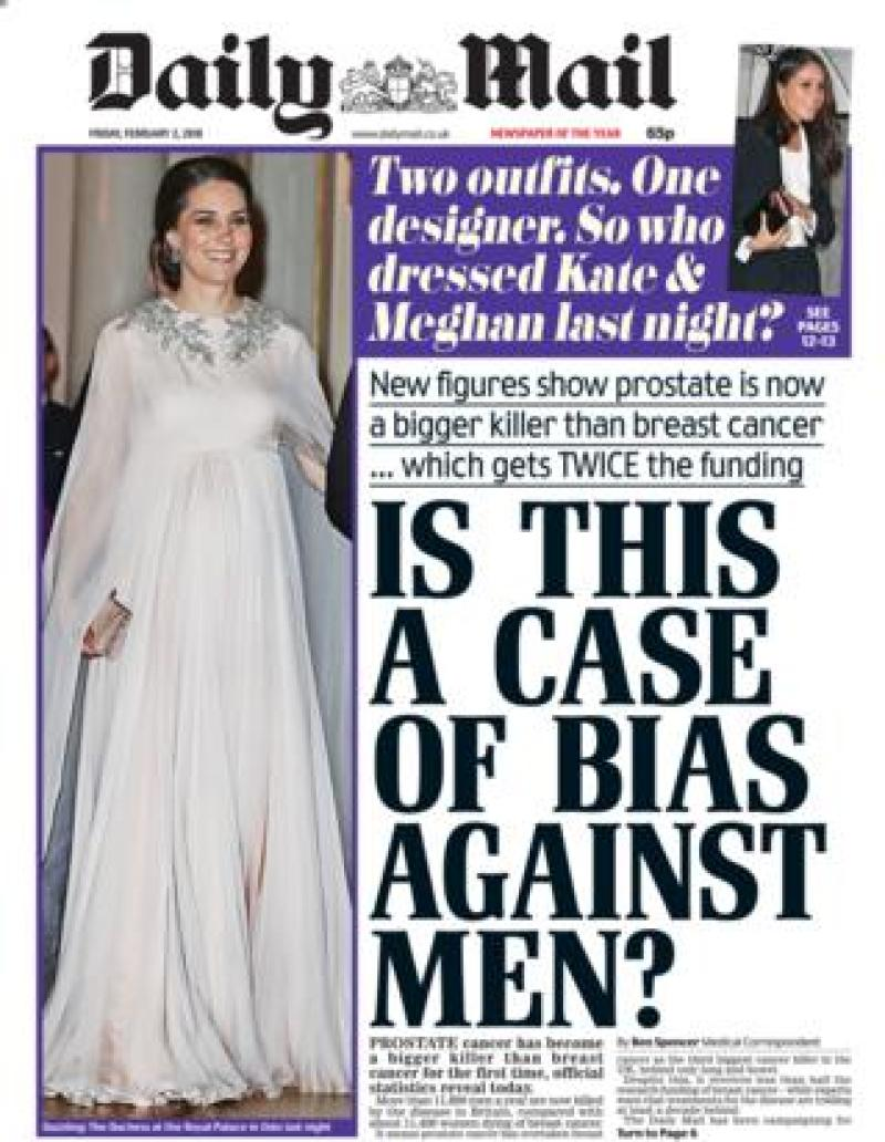 Daily Mail front page - 02/02/18