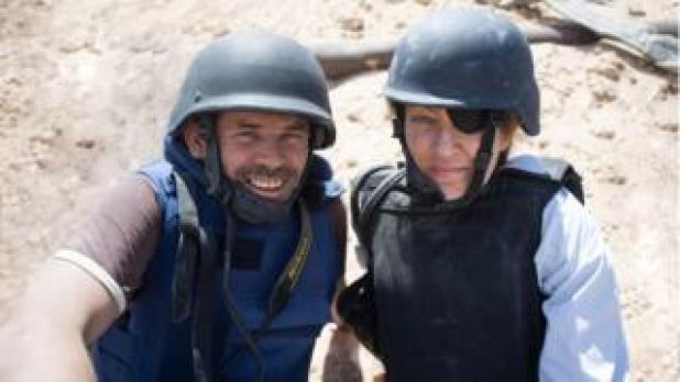 Paul Conroy and Marie Colvin