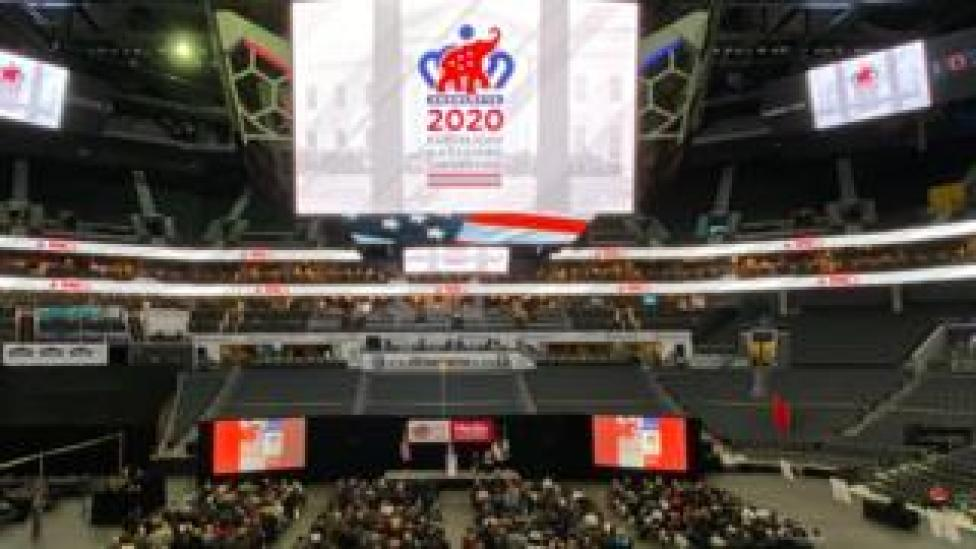 trump The Republican National Committee holds a media walkthrough for the 2020 Republican National Convention