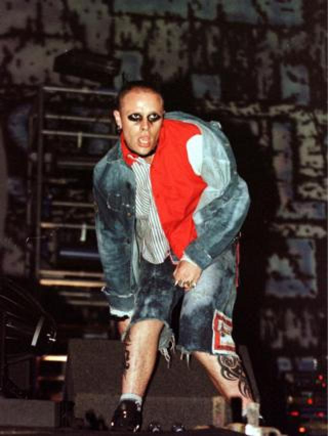 Keith Flint of The Prodigy at the V97 concert at Temple Newsham, Leeds, 1997