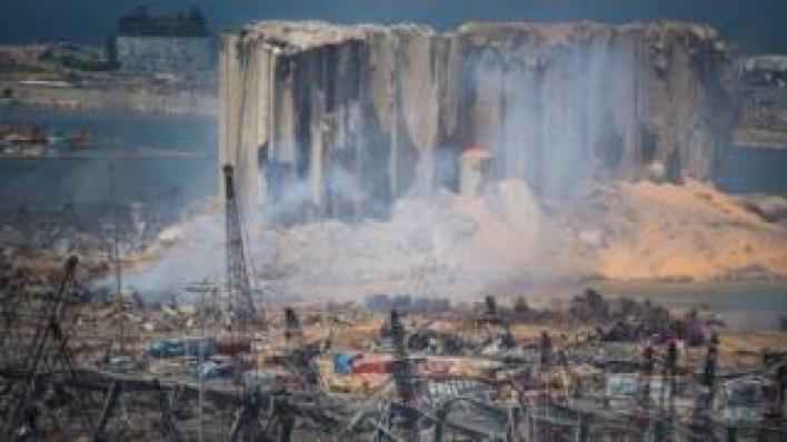مشهد من الدمار