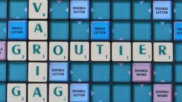 Groutier on a Scrabble board
