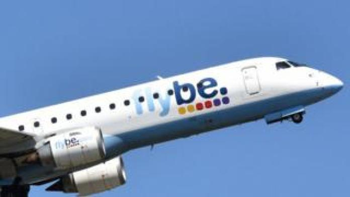 flybe plane in the air