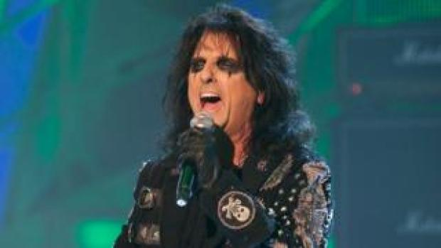 US rock musician Alice Cooper performing on the BBC's Strictly Come Dancing TV show