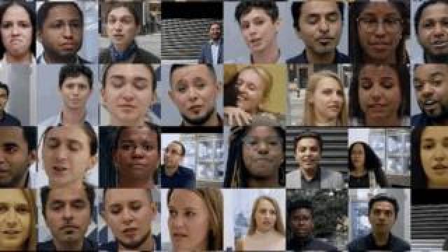 A montage of actors' faces