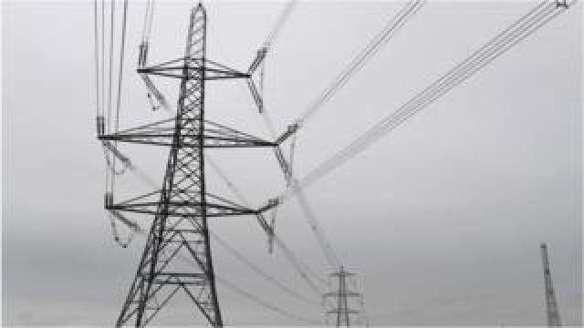 Electricity pylons in Wales